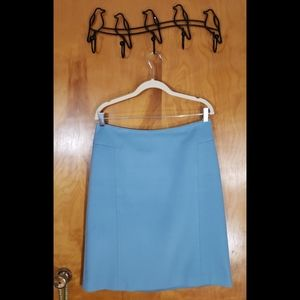 Ann Taylor Powder Blue Wool/Cashmere Skirt